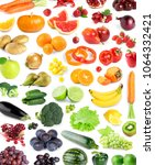 fruits and vegetables.... | Shutterstock . vector #1064332421