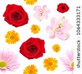seamless pattern of beautiful... | Shutterstock . vector #1064333171