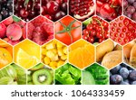 background of fruits and... | Shutterstock . vector #1064333459