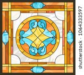 ceiling panels stained glass... | Shutterstock .eps vector #1064333597