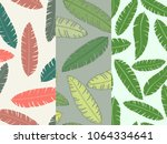 set of three seamless floral... | Shutterstock .eps vector #1064334641