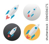 rocket icon on white background | Shutterstock .eps vector #1064336171