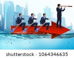 teamwork concept with... | Shutterstock . vector #1064346635