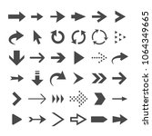 arrow web icons isolated ... | Shutterstock .eps vector #1064349665