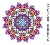 vector colorful mandala pattern ... | Shutterstock .eps vector #1064349791