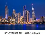 view on surfers paradise at... | Shutterstock . vector #106435121