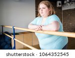 waist up portrait of obese... | Shutterstock . vector #1064352545