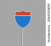 interstate highway road sign.... | Shutterstock .eps vector #1064353859