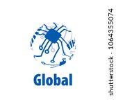 vector logo globe | Shutterstock .eps vector #1064355074