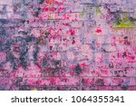 old brick wall carelessly... | Shutterstock . vector #1064355341