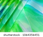 beautiful green satin fabric... | Shutterstock . vector #1064356451