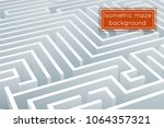maze intricacy labyrinth... | Shutterstock .eps vector #1064357321
