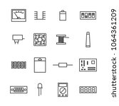 set of various electronic and... | Shutterstock . vector #1064361209