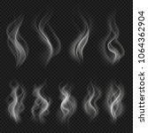 grey hot smoke clouds. white... | Shutterstock .eps vector #1064362904