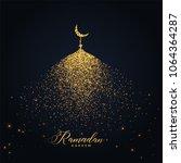 ramadan kareem design with... | Shutterstock .eps vector #1064364287