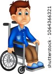 cute boy cartoon sitting in a...   Shutterstock .eps vector #1064366321