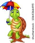 funny turtle cartoon sitting on ...   Shutterstock .eps vector #1064366495