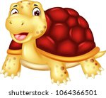 cute turtle cartoon posing with ...   Shutterstock .eps vector #1064366501