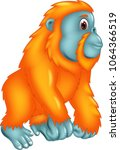 cute gorilla cartoon posing...   Shutterstock .eps vector #1064366519