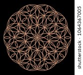 mandala. circular ornament.... | Shutterstock .eps vector #1064367005