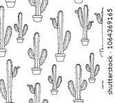 cactus in a pot    Shutterstock .eps vector #1064369165