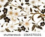 spring  floral vintage seamless ... | Shutterstock .eps vector #1064370101