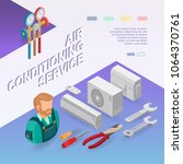 air conditioning service.... | Shutterstock .eps vector #1064370761