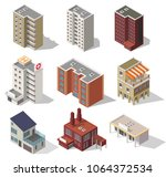 big set low poly vectors of... | Shutterstock .eps vector #1064372534