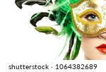 beautiful young woman in... | Shutterstock . vector #1064382689