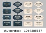 retro vintage frames collection ... | Shutterstock .eps vector #1064385857