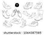 vector illustration of set hand ... | Shutterstock .eps vector #1064387585