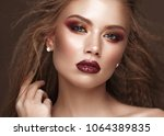 beautiful blond model with...   Shutterstock . vector #1064389835