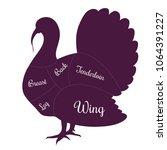 turkey poultry fowl meat cuts...   Shutterstock .eps vector #1064391227