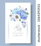 vector wedding invitation with... | Shutterstock .eps vector #1064393531
