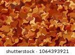 light pink  blue vector... | Shutterstock .eps vector #1064393921