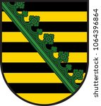 coat of arms of saxony is a... | Shutterstock .eps vector #1064396864