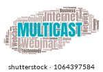 multicast or web conference... | Shutterstock .eps vector #1064397584