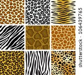 Stock vector animal skin seamless pattern set 106439765