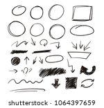 set of hand drawn sketch... | Shutterstock .eps vector #1064397659