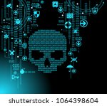concept of network security  ... | Shutterstock .eps vector #1064398604