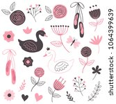 set of isolated beautiful... | Shutterstock .eps vector #1064399639