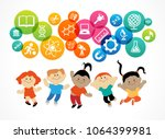 child education.children learn... | Shutterstock .eps vector #1064399981
