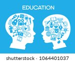 child education.children learn... | Shutterstock .eps vector #1064401037
