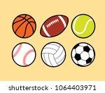 sport ball collection. tennis...   Shutterstock .eps vector #1064403971