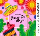 happy cinco de mayo greeting... | Shutterstock .eps vector #1064404289