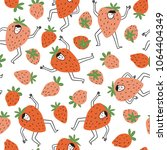 cute berry characters and... | Shutterstock .eps vector #1064404349