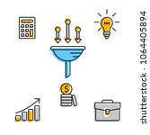 minimalist set of icons for... | Shutterstock .eps vector #1064405894