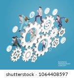 business management conceptual. ... | Shutterstock .eps vector #1064408597