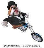 fun bulldog   3d illustration | Shutterstock . vector #1064413571