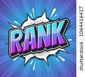 rank. poster comic speech... | Shutterstock .eps vector #1064416427